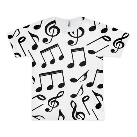 Music Notes Short Sleeve Adult  T-shirt (unisex)