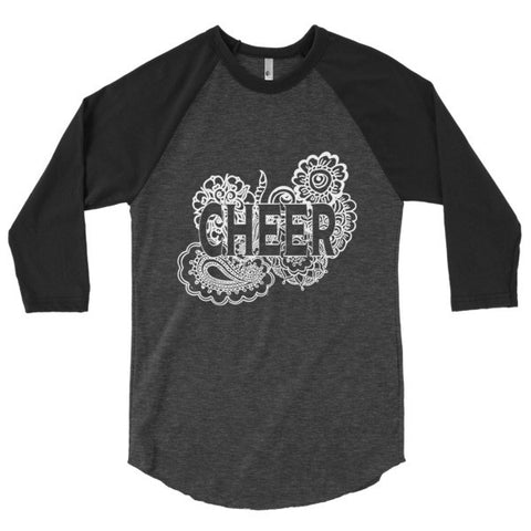 Cheer Zen Tangle 3/4 Sleeve Raglan Shirt