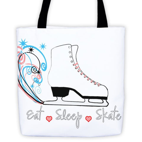 Eat Sleep Skate-Figure Skating Tote Bag