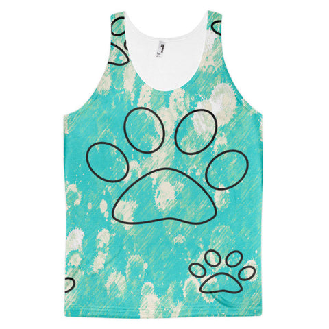 Cat Paws Short Sleeve Adult Classic Fit Tank top (unisex)