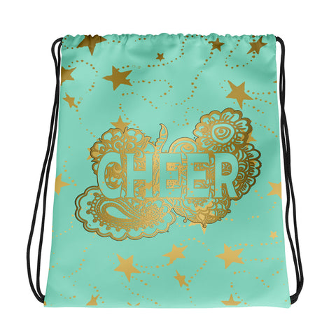 Cheer Gold Stars and Doodle -Cinch Sak