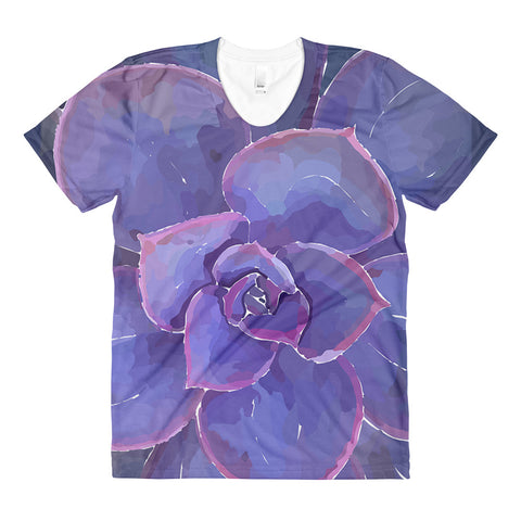 Moody Blues Succulent -by Hxlxynxchxle -Women's Crew Neck T-shirt