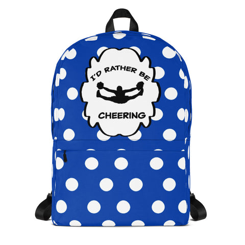 I'd Rather Be Cheering Backpack in Blue