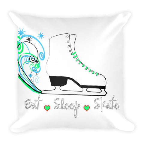 Eat.Sleep.Skate- Figure Skating Pillow