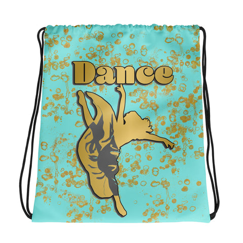Dance Backpack in Aqua and Gold Flake- Perfect for teams or groups