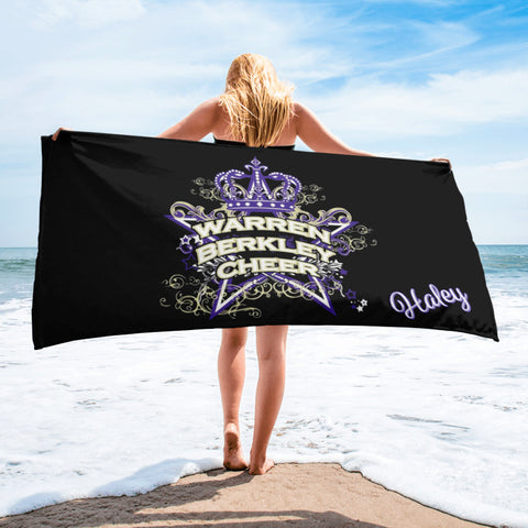 Warren Berkley Cheer-Beach Towel-Customized with Name