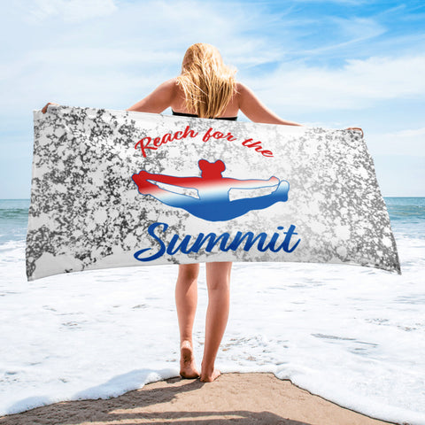 Cheer- Reach for the Summit -Beach Towel