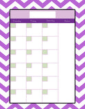 Teachers Planner Pack -8 Planning Calendar's -Instant Download- Printable PDF**Not Editable**