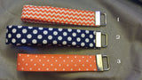 Navy and Orange  Collection  Fabric  Key Fob's