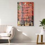 Tennessee Fall Pathway with Psalms 118.24 Gallery Quality Canvas
