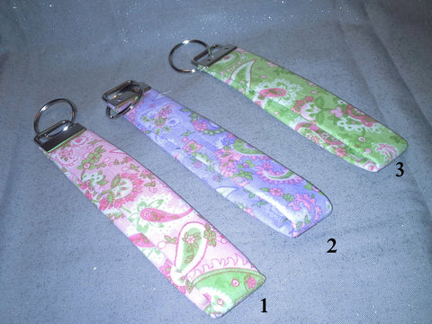 Paisley Collection  Fabric  Key Fob's