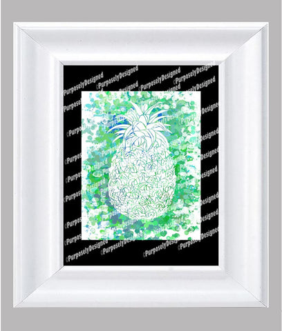 Coastal Collection Pineapple- Fine Art Print- Various Sizes Available