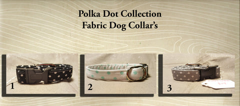 Mini Polka Dot  Fabric Custom Made Dog Collar's- Choose your size