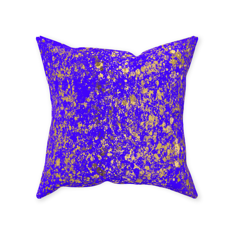 Indigo and Gold Patina Design Collection Throw Pillows