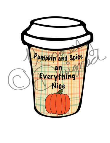 Pumpkin and Spice Coffee Design-Silhouette Print and Cut Design DOWNLOAD
