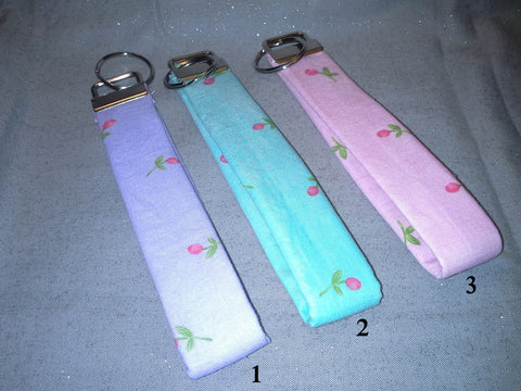 Rose Bud Collection  Fabric  Key Fob's