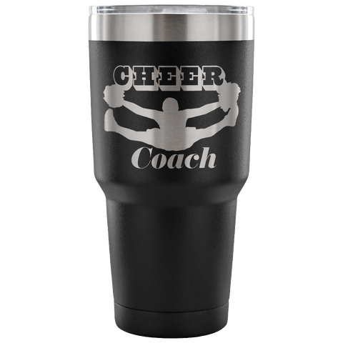 Cheer Coach--Etched Tumbler -30 ounces-Choose from 7 Colors