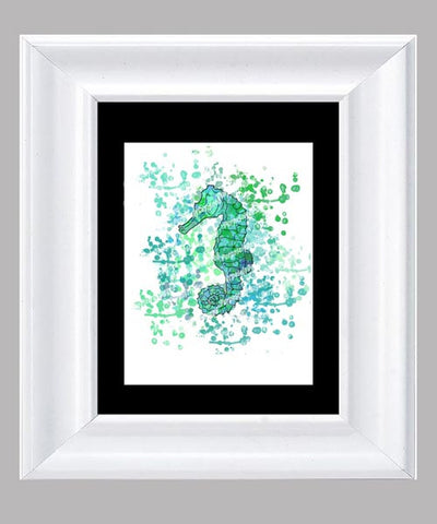 Coastal Collection Seahorse- Fine Art Print- Various Sizes Available