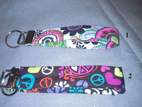 Punch of Color Collection  Fabric  Key Fob's