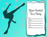 Figure Skating Printable  Party Invitation