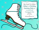 Customized Figure Skating Party Invitation