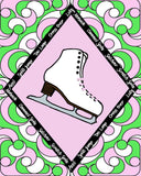Figure Skate with Skate Moves Art Print Size 20 x 30 inch -Choose from Several Styles