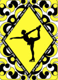 Figure Skater with Skate Moves Art Print Size 20 x 30 inch -Choose from Several Styles