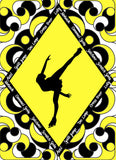 Figure Skater with Skate Moves Art Print Size 11 x 14 inch -Choose from Several Styles