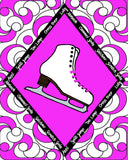 Figure Skate with Skate Moves Art Print Size 11 x 14 inch -Choose from Several Styles
