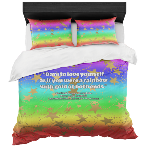 Dare to Love Yourself Duvet in a Bag with Two Pillow Shams