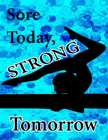 Stronger -Gymnastics Poster- Print can be personalized- Choose your size and Color