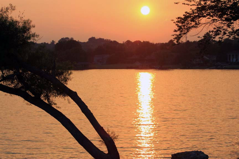 Orange Waters - Sunset Over Fort Loudon Lake In Farragut, Tennessee