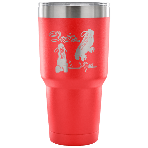 Skate Life-Roller Skates-Etched Tumbler -30 ounces in a Variety of 7 Colors