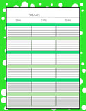 Teachers Planner Pack -10 different one page Planning Calendar's -Instant Download- Printable PDF**Not Editable**