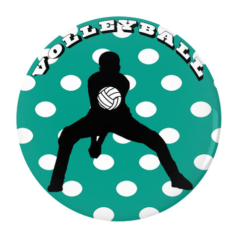 Volleyball - Pin/Buttons in Various Sizes