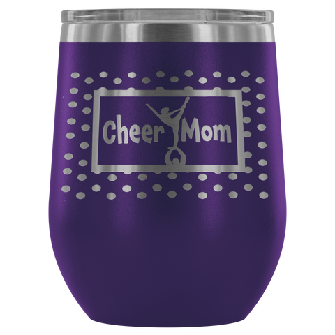 Cheer Mom Stemless Wine Tumblers 12 oz.