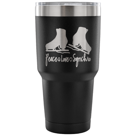 Peace-Love-Synchro-Etched Tumbler -30 ounces-Choose from 7 Colors