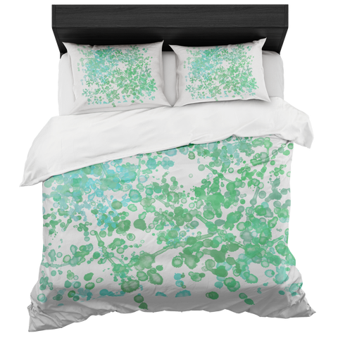 Watercolor Inspired Duvet Bed-in-a-Bag Set Includes 2 Pillow Cases