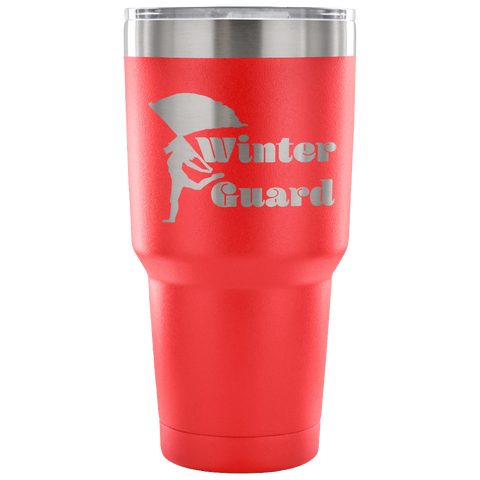 Winter Guard-Etched Tumbler -30 ounces- Choose From a Variety of 7 Colors