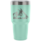 Beach Cruiser-Etched Tumbler -30 ounces Variety of 7 Colors to Choose From