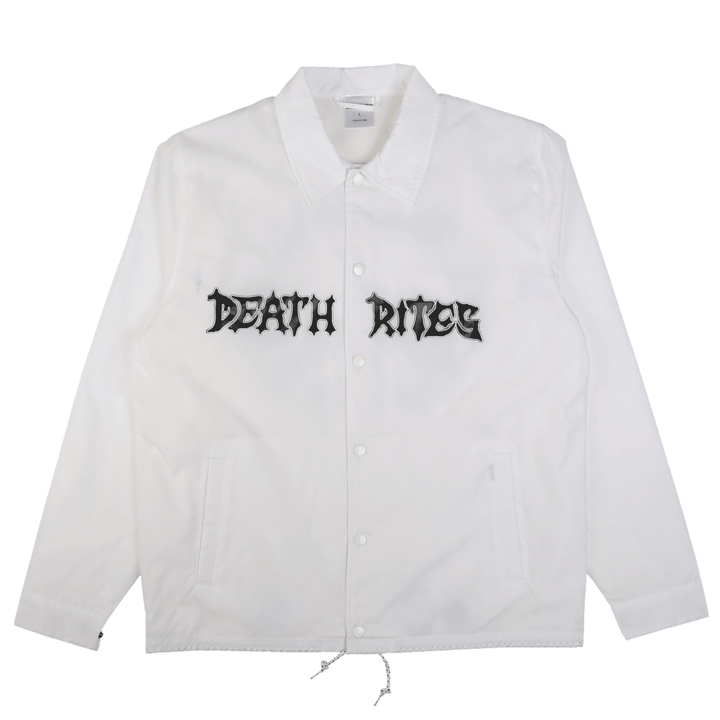 Peace Be With You Coach Jacket White