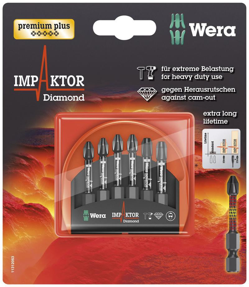 05073892002 WERA IMPAKTOR 6 piece Mini Check (PH2 x 4, PH3 x 2)