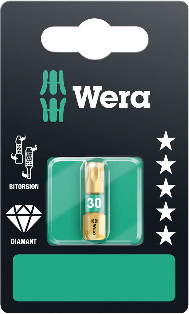 WERA 05134378001 867/1 BDC TX 30 X 25 MM SB TORX BITS, BITORSION