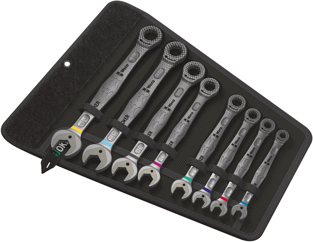 WERA 05020012001 JOKER SET 8PCS. IMPERIAL COMBINATION WRENCH SET  [Color Coded Wrenches]