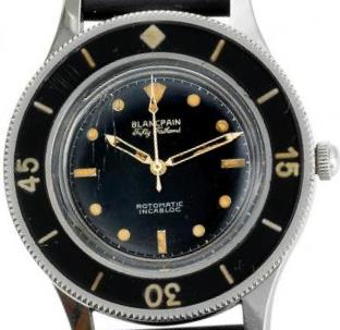 1953 Blancpain Fifty Fathoms with non-numerical dial