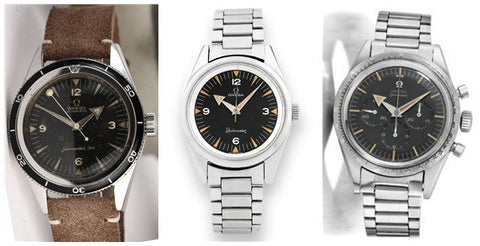 Omega CK 2913Seamaster, CK 2914 Railmaster, and CK 2915 Speedmaster