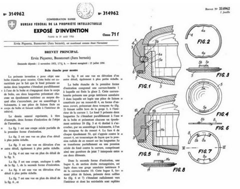Enicar Bayonet Case patent document