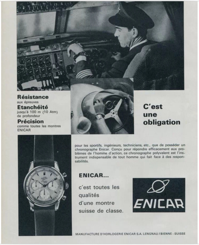 Enicar Graph French Ad