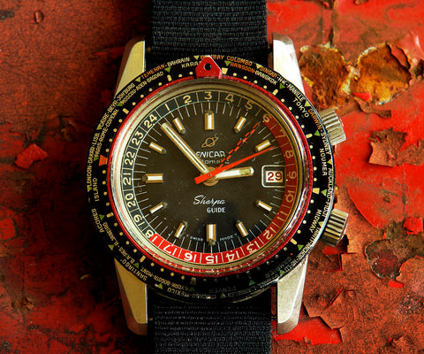 Enicar Sherpa Guide Mark III with black dial