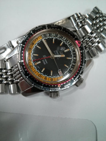 Enicar Sherpa Guide Mark III, yellow and black inner bezel